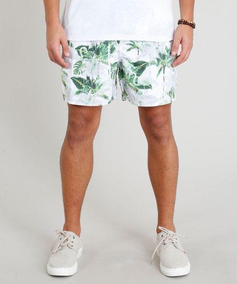 Short-Masculino-Estampado-de-Coqueiros-com-Bolsos-Branco-9265865-Branco_1