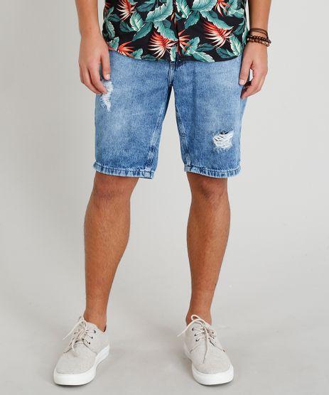 Bermuda-Jeans-Masculina-Destroyed-com-Bolsos-Azul-Medio-9335141-Azul_Medio_1
