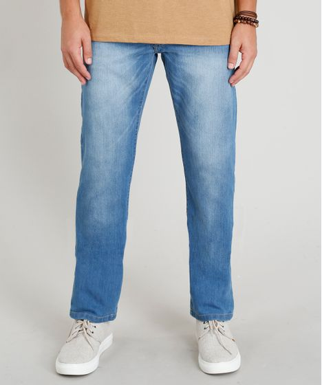 842db5e34d Calca-Jeans-Masculina-Reta-Azul-Claro-9258206-Azul Claro 1 ...