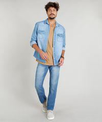 1f4f79e512 ... Calca-Jeans-Masculina-Reta-Azul-Claro-9258206-Azul Claro 1 ...