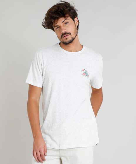 Camiseta-Masculina-com-Estampa-de-Tucano-Manga-Curta-Gola-Careca-Cinza-Mescla-Claro-9331531-Cinza_Mescla_Claro_1