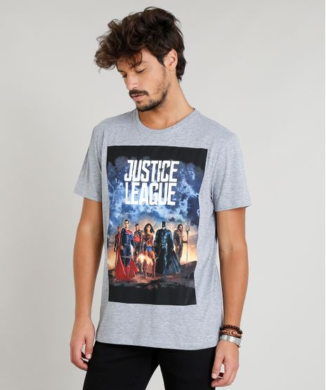 Camiseta-Masculina-Liga-da-Justica-Manga-Curta-Gola-Careca-Cinza-Mescla-8758246-Cinza_Mescla_1