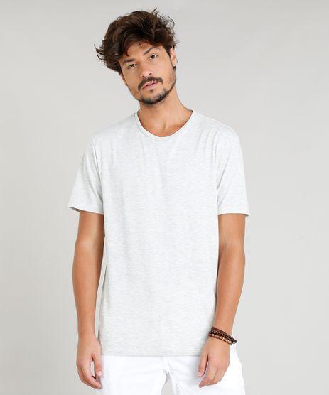 Camiseta-Masculina-Basica-Manga-Curta-Gola-Careca-Cinza-Mescla-Claro-9278984-Cinza_Mescla_Claro_1