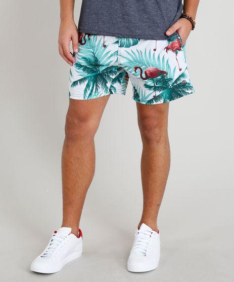 Short-Masculino-Estampado-de-Flamingos-com-Bolsos-Cinza-Mescla-Claro-9308701-Cinza_Mescla_Claro_1