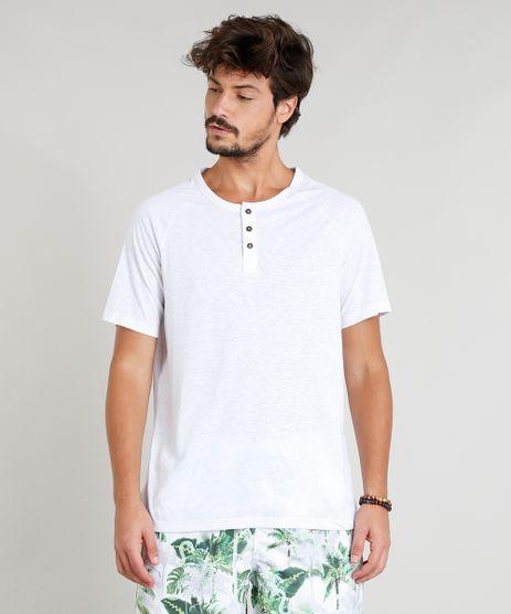 Camiseta-Masculina-Botone-com-Linho-Manga-Curta-Raglan-Gola-Careca-Branca-9249171-Branco_1
