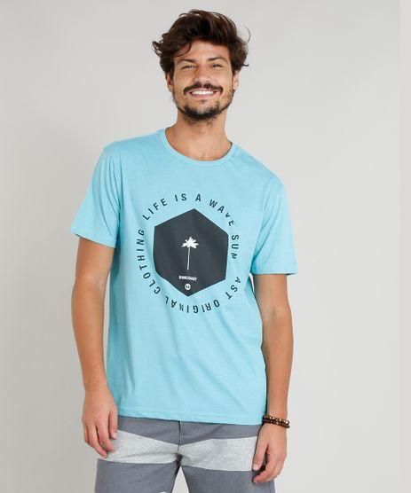 Camiseta-Masculina--Life-is-a-Wave--Manga-Curta-Gola-Careca-Azul-Claro-9306218-Azul_Claro_1