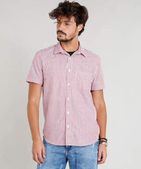 Camisa-Masculina-Estampada-Listrada-Manga-Curta-Vermelha-9349997-Vermelho_1
