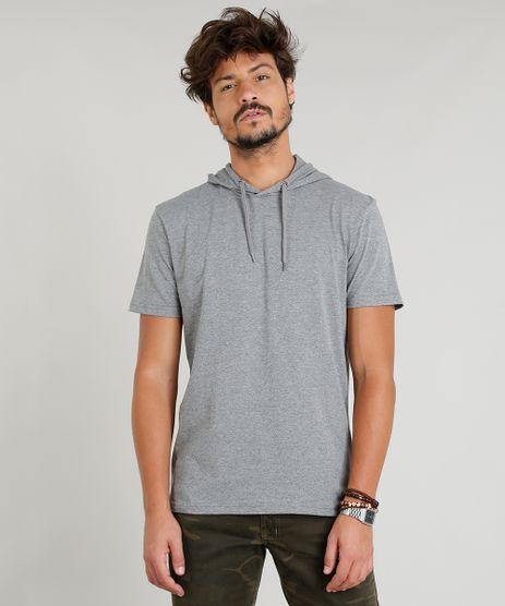 Camiseta-Masculina-com-Capuz-Manga-Curta-Cinza-Mescla-9248984-Cinza_Mescla_1