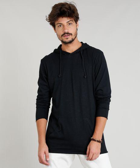 Camiseta-Masculina-Flame-com-Capuz-e-Bolso-Manga-Longa-Preta-9375936-Preto_1