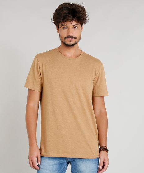 Camiseta-Masculina-Basica-Manga-Curta-Gola-Careca-Caramelo-9278984-Caramelo_1