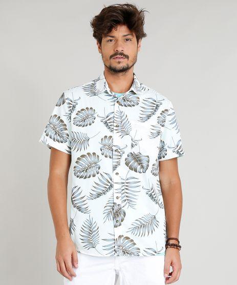 Camisa-Masculina-Estampada-de-Folhas-Manga-Curta-Gola-Esporte-Off-White-9250500-Off_White_1