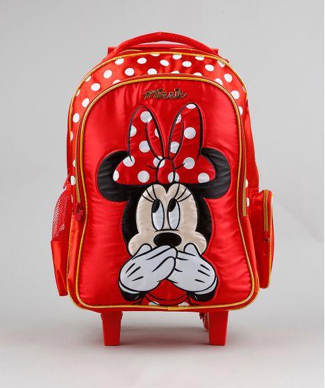 03e330ba8 Mochila-Escolar-Infantil-com-Rodinhas-Minnie-Vermelha-9235381- ...