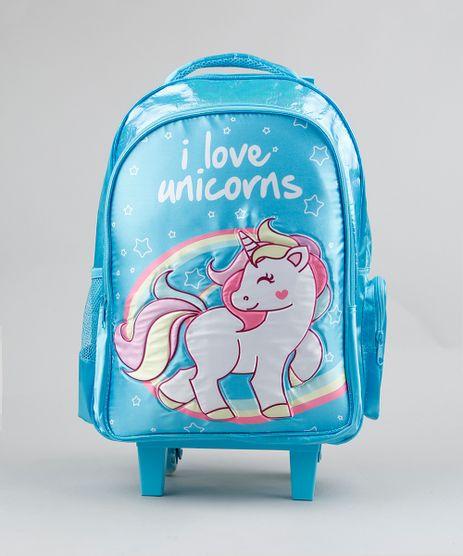 Mochila-Escolar-Infantil-com-Rodinhas-Unicornio-Azul-Claro-9235547-Azul_Claro_1