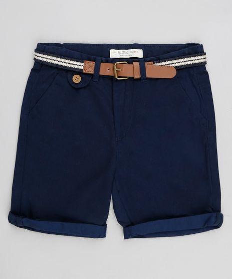 Bermuda-Color-Infantil-com-Cinto-Cadarco-Listrado-Azul-Marinho-9193832-Azul_Marinho_1