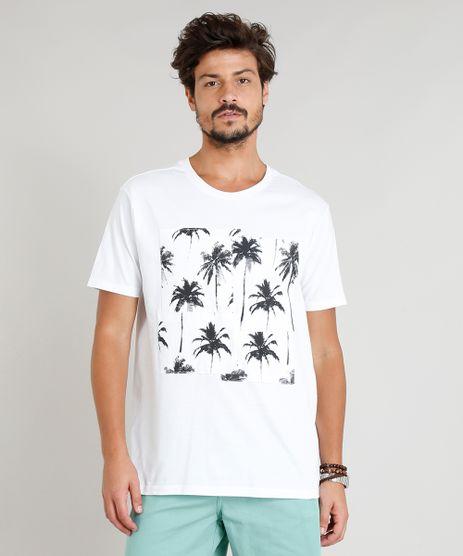 Camiseta-Masculina-com-Recorte-de-Coqueiros-Manga-Curta-Gola-Careca-Branca-9314842-Branco_1