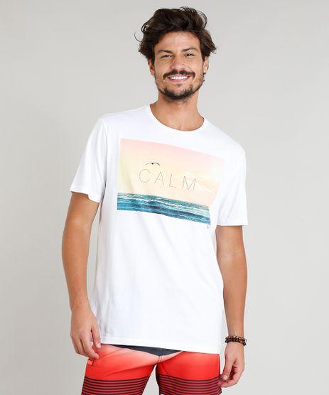 Camiseta-Masculina--Calm--Manga-Curta-Gola-Careca-Branca-9276655-Branco_1