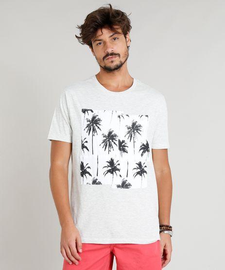 Camiseta-Masculina-Mescla-com-Recorte-de-Coqueiros-Manga-Curta-Gola-Careca-Off-White-9314842-Off_White_1