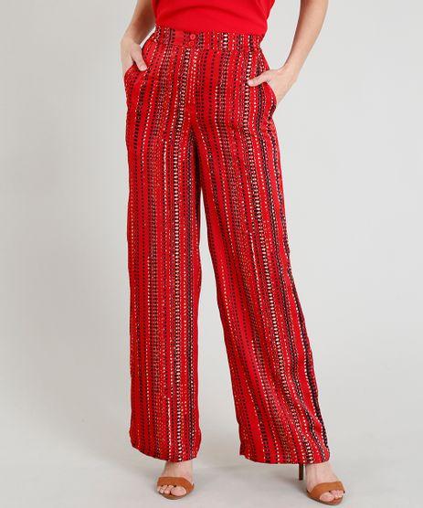 Calca-Pantalona-Feminina-Estampada-Abstrata-Vermelha-9275646-Vermelho_1