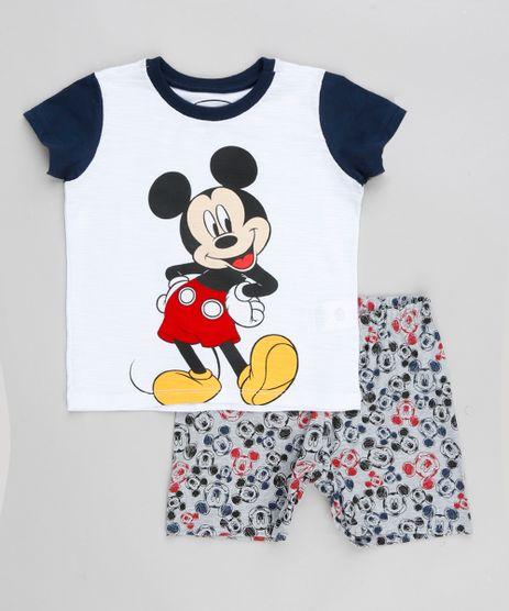 Pijama-Infantil-Mickey-Raglan-com-Estampa-Manga-Curta-Branco-9341161-Branco_1