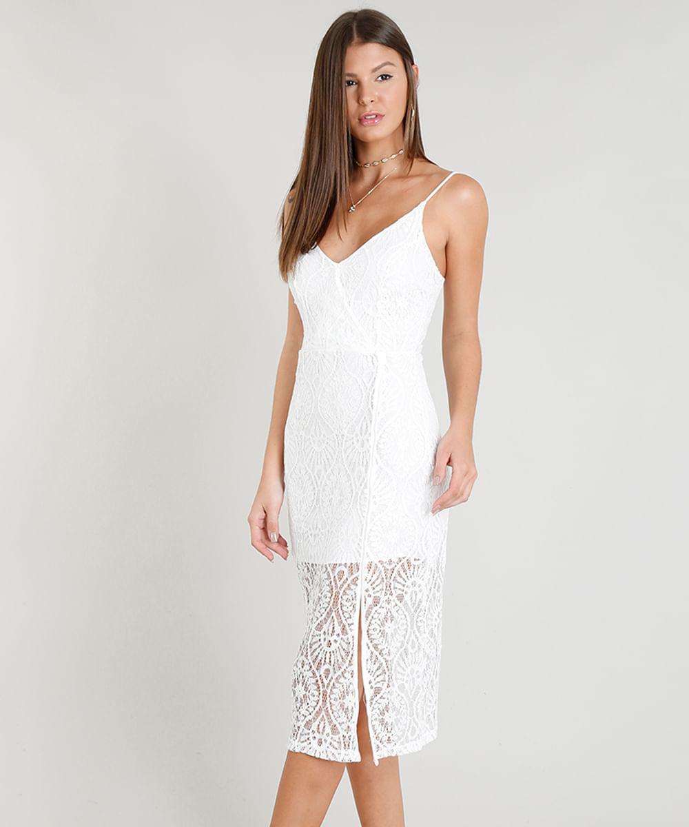 Vestido-Midi-Feminino-em-Renda-com-Fenda-e-Decote-V-Off-White-9356299-Off_White_1