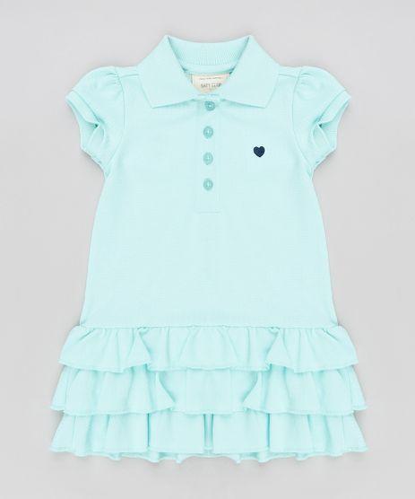 Vestido-Polo-Infantil-com-Babados-em-Piquet-Manga-Curta-Verde-Claro-9259829-Verde_Claro_1
