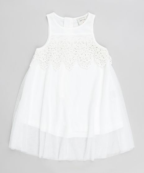Vestido-Infantil-em-Tule-com-Renda-Sem-Manga-Branco-9174591-Branco_1
