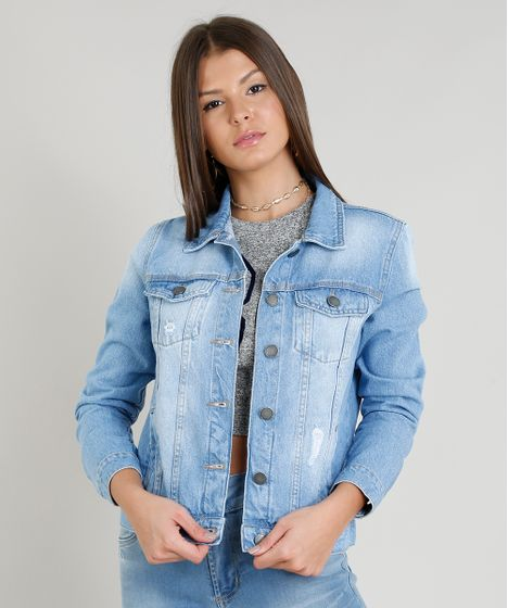 1c7cd724ff Jaqueta-Jeans-Feminina-com-Puidos-Azul-Claro-1- ...