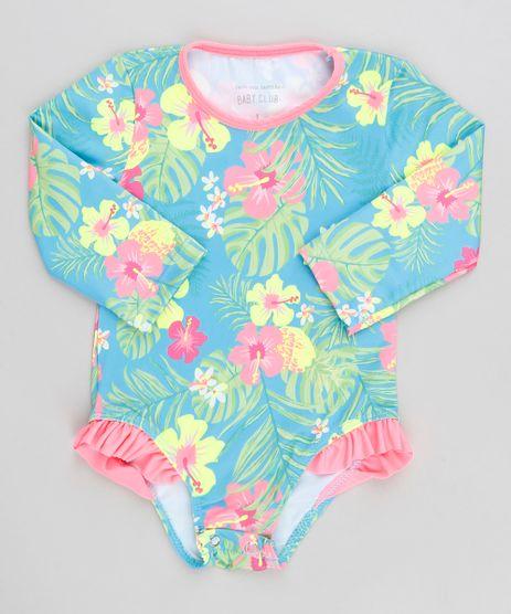 Maio-Body-Infantil-Estampado-Floral-com-Babado-Manga-Longa-Protecao-UV50--Azul-9302501-Azul_1