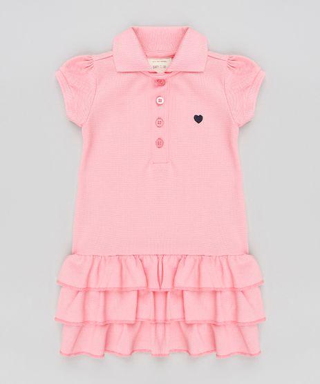 Vestido-Polo-Infantil-com-Babados-em-Piquet-Manga-Curta-Rosa-9259828-Rosa_1