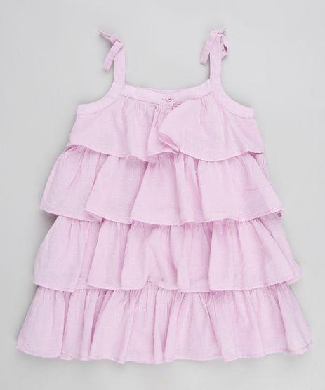 Vestido-Infantil-de-Babados-com-Alca-com-Laco-Lilas-9174582-Lilas_1