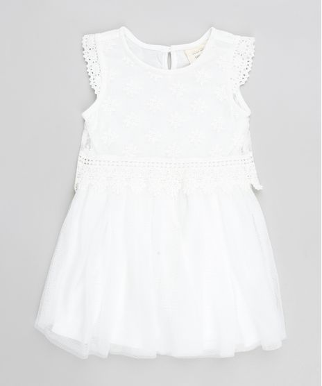 Vestido-Infantil-em-Tule-com-Renda-Sem-Manga--Branco-9200171-Branco_1