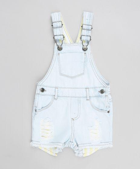 Jardineira-Jeans-Infantil-Destroyed-com-Bolsos-Delave-9341275-Delave_1