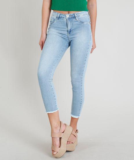 Calca-Jeans-Feminina-Sawary-Cropped-com-Barra-Desfiada-Azul-Claro-9368341-Azul_Claro_1