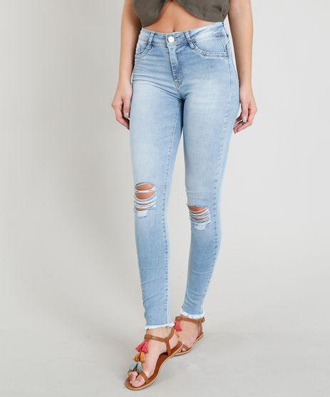 Calca-Jeans-Feminina-Sawary-Cigarrete-com-Rasgos-Azul-Claro-9417504-Azul_Claro_1