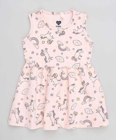 Vestido-Infantil-Estampado-de-Unicornio-Sem-Manga-Rosa-9300344-Rosa_1