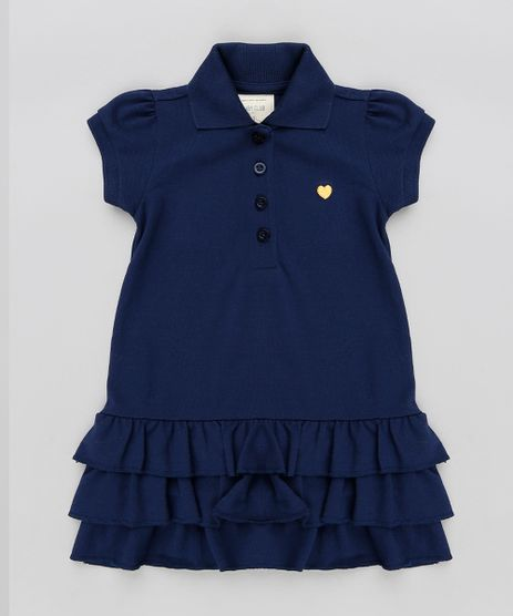 Vestido-Polo-Infantil-com-Babados-em-Piquet-Manga-Curta-Azul-Marinho-9259826-Azul_Marinho_1