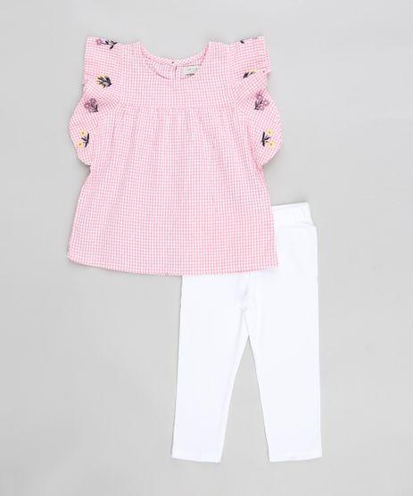 Conjunto-Infantil-de-Regata-Estampada-Xadrez-com-Babados-Rosa---Calca-Legging-Branca-9274220-Branco_1