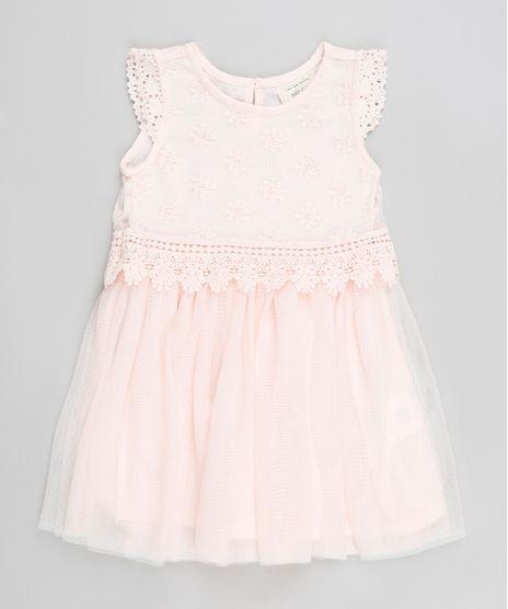 Vestido-Infantil-em-Tule-com-Renda-Sem-Manga--Rose-9200172-Rose_1
