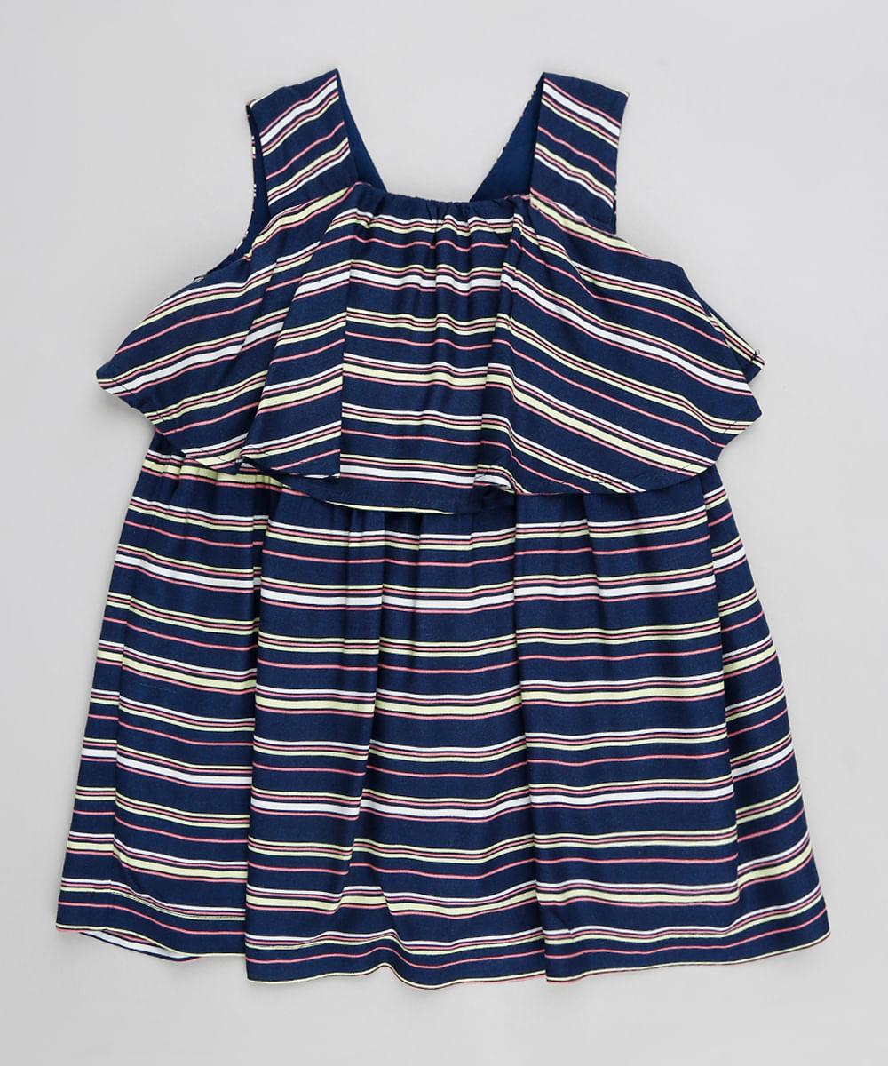 Vestido azul escuro infantil