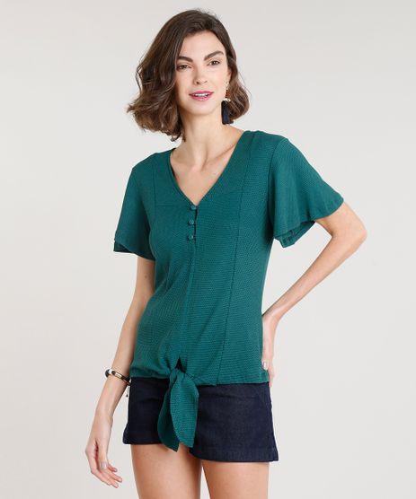 Blusa-choker-com-argolas-verde-escuro-8954021-verde escuro – cea 673eb1e7c782d
