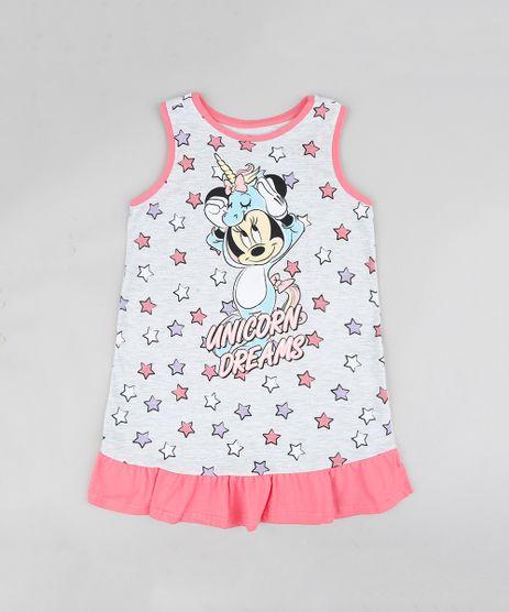 Camisola-Infantil-Minnie-com-Babado-Cinza-Mescla-Claro-9337180-Cinza_Mescla_Claro_1