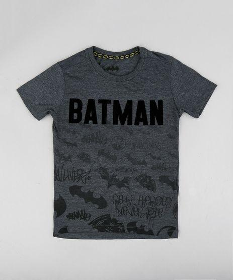 Camiseta-Infantil-Batman-Manga-Curta-Gola-Careca-Cinza- 0ec97b5371d44