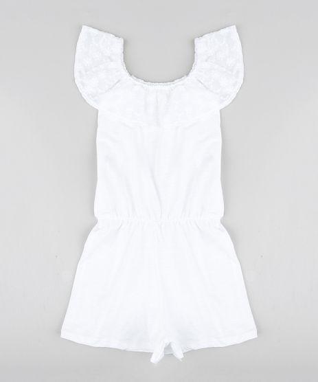 Macaquinho-Infantil-Ombro-a-Ombro-com-Laise-Manga-Curta-Off-White-9304645-Off_White_1