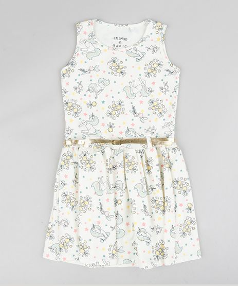 Vestido-Infantil-Estampado-de-Unicornios-com-Cinto--Off-White-9341710-Off_White_1