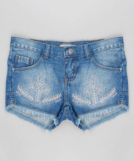 Short-Jeans-Infantil-com-Bordado-de-Ramos-e-Barra-Desfiada-Azul-Medio-9320870-Azul_Medio_1