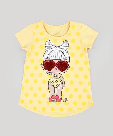 Blusa-Infantil-LOL-Surprise-com-Paete-Dupla-Face-Manga-Curta-Decote-Redondo-Amarela-9297076-Amarelo_1