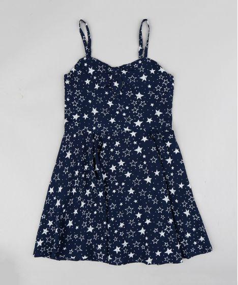 Vestido azul marinho infantil
