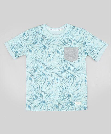 Camiseta-Infantil-Estampada-Tropical-com-Bolso-Manga-Curta-Gola-Careca-Verde-Agua-9328080-Verde_Agua_1
