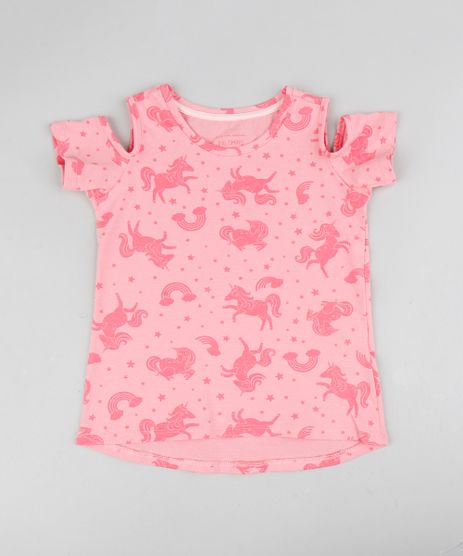 Blusa-Infantil-Open-Shoulder-Estampada-Unicornio-Manga-Curta-Decote-Redondo-Rosa-9384175-Rosa_1