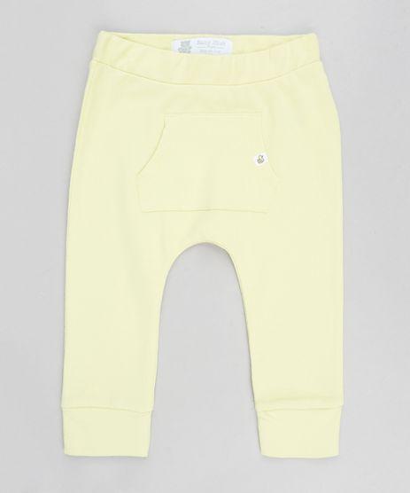 Calca-Infantil-Jogger-de-Malha-com-Bolso-Amarelo-Claro-9208954-Amarelo_Claro_1
